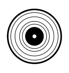 vinyl audio retro icon vector image