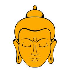 Head of buddha icon cartoon vector