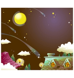 House night sky vector