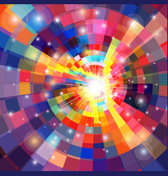 Bright multicolored gradient background with vector