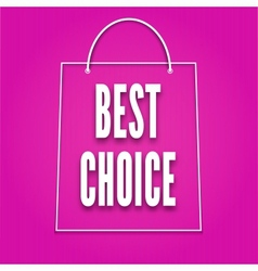 Silhouette of shopping bags with the word Best vector image