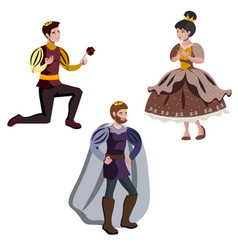 king a prince and a princess vector image