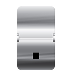Alphabet silver flipboard letters dot vector image