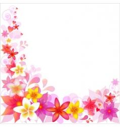 Floral border vector