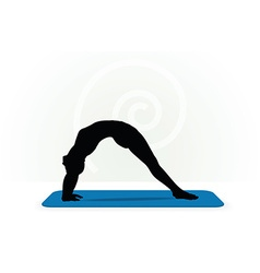 Yoga pose isolated on white background vector