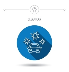 Clean car icon cleaning wash station sign vector