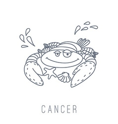 Crab cancer vector