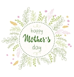 Hand drawn mothers day lettering circled vector