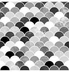Fish scales monochrome seamless pattern vector