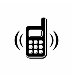Phone is ringing icon simple style vector