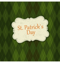St patrick days background vector
