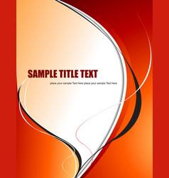 abstract orange yellow wave background vector image vector image