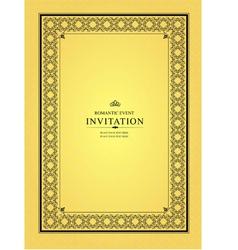 al 0905 invitation 05 vector image