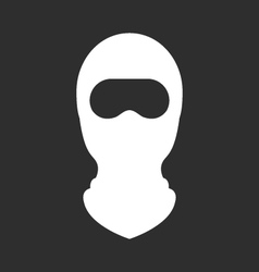 Balaclava or ski mask - face mask of terrorists vector
