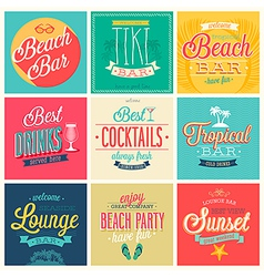 beach bar set vector image vector image