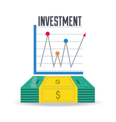 bill cash and chart investment concept vector image