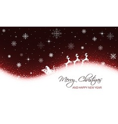 Christmas greeting card with snowflakes stars and vector