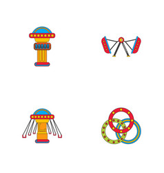 Circus icons collection vector