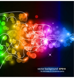 colorful glow vector image