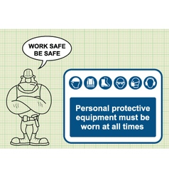 Construction health and safety vector image