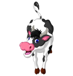 Cow cartoon posing vector