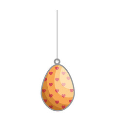 Egg easter chocolate pendant vector