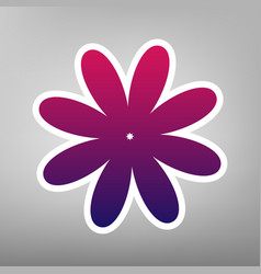 Flower sign purple gradient vector