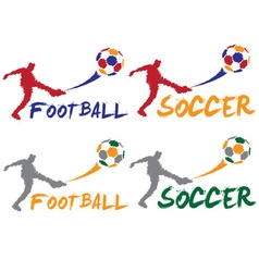 football and soccer player vector image vector image