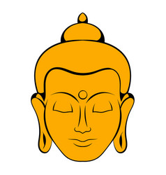 Head of buddha icon cartoon vector