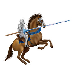 Jousting knight vector