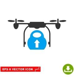 Load cargo drone eps icon vector