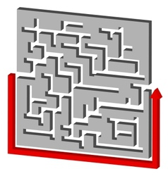 Maze Puzzle Solution vector image