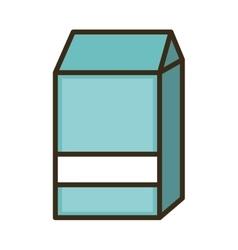 milk blue box vector image