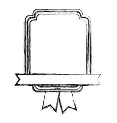 Monochrome sketch with heraldic rectangle and vector