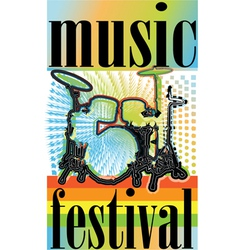 Music festival vector image vector image