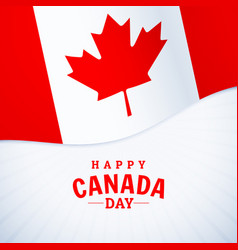National holiday happy canada day greeting vector