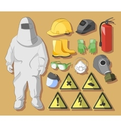 Protective clothing and equipment vector image vector image