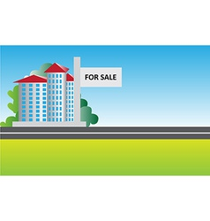Real estate sale background vector