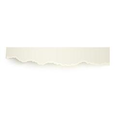 Realistic piece eibbon of torn-off paper vector