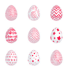 red eggs vector image vector image