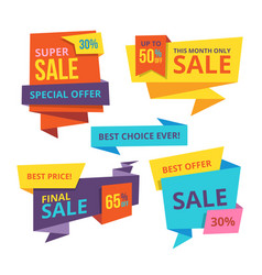 sale and discount banner templates vector image