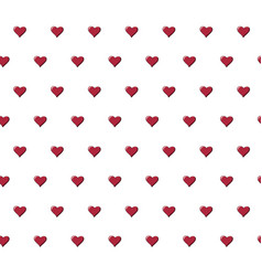 seamless pattern with beautiful red hearts vector image vector image