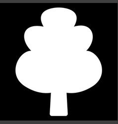 Tree it is the white color icon vector