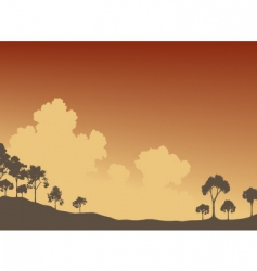 trees and sky vector image vector image