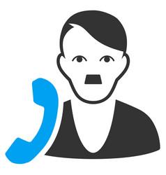 User phone flat icon vector