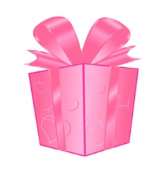 valentines gift vector image vector image