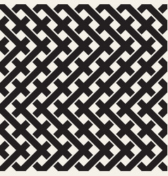 Weave seamless pattern braiding background of vector