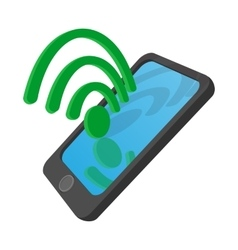 Wi-fi Internet connection on a smartphone icon vector image vector image
