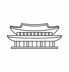 Gyeongbokgung palace seoul icon outline style vector
