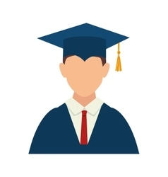 Man boy graduate gown vector